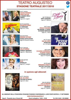 locandina Teatro Augusteo abbonati