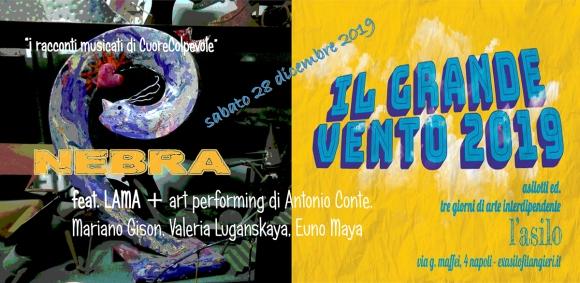 NEBRA.locandina live show 28 dicembre 2019 Ex Asilo Filangieri NA-2