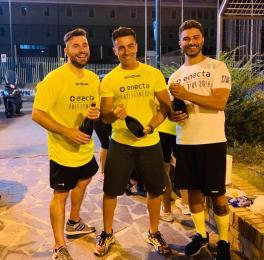 Sinistra verso destra: Paolo Bianco (presidente Free Fitness Italia e Responsabile area Comunicazione di Enecta), Riccardo Buono (Head Coach Napoli), Pierluigi Catalano (Ambassador Free Fitness Napoli).